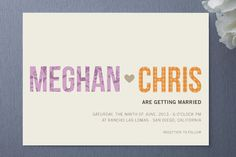 His + Hers Wedding Invitations by R studio at minted.com