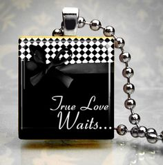 True Love Waits Purity Jewelry Purity Necklace by vintagewithflair, $6.95