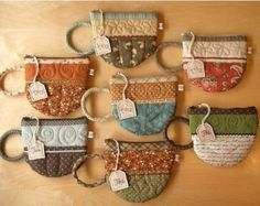 tea cup change purses. Could be turned into pot holders.