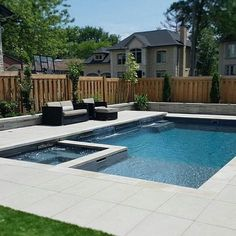 - When it comes to deciding to bring a pool into your yard, there is no bigger decision to make then the design of it. The design of the pool not only a. landscaping midwest Luxurious Pool Design Ideas For Your Home Backyard Pool Landscaping, Backyard Pool Designs, Small Backyard Landscaping, Landscaping Ideas, Patio Ideas, Backyard Ideas, Garden Ideas, Small Swimming Pools, Swimming Pools Backyard