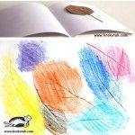 Pintar sobre una superfície texturada (fulles)