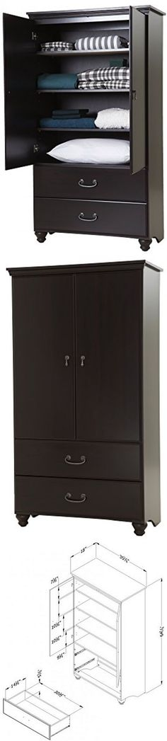 Armoires And Wardrobes 103430: Wardrobe Armoire Storage Closet Cabinet  Bedroom Furniture Wood Clothes Organizer  U003e BUY IT NOW ONLY: $298.85 On  EBay!