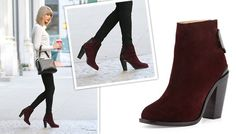 Taylor Swift Burgundy Booties | Rag Bone Kerr Nubuck Ankle Boots