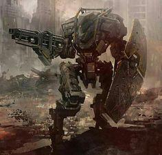 Robot concept art military future soldier 55 Ideas for 2019 Steampunk, Gundam, Arte Peculiar, Arte Robot, Mekka, Cool Robots, Sci Fi Armor, Future Soldier, Military Armor