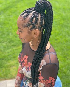 Braided Cornrow Hairstyles, Feed In Braids Hairstyles, Braids Hairstyles Pictures, Black Girl Braids, Braided Hairstyles For Black Women, Braids For Black Hair, Scarf Hairstyles, Girl Hairstyles, Hair Ponytail Styles