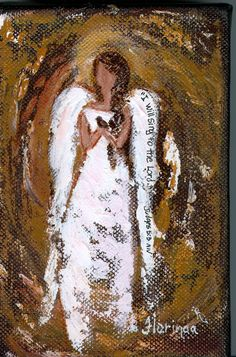 Angel Painting by Florinda www. Angel Artwork, Angel Paintings, I Believe In Angels, Angels Among Us, Mystique, Guardian Angels, Christmas Paintings, Religious Art, Painting Inspiration