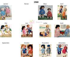Modes et Travaux - Patrons poupée 1968