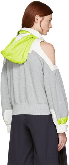 Sacai - Grey Knit Pullover