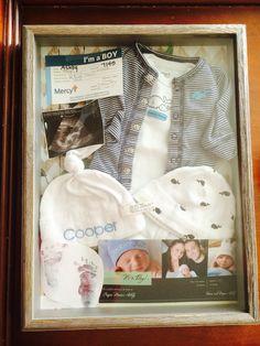 Cooper's newborn shadow box