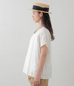 d27d5fbc3c Julie Top  White Cream Stripe + Ecru – Shop Fog Linen