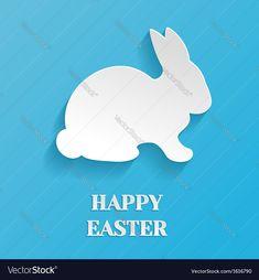 Happy Easter Rabbit Bunny vector image on VectorStock Web Icon Vector, Vector Pop, Texture Vector, Free Vector Images, Vector Free, Christmas Tree Background, Snowflake Background, Rabbit Silhouette, Chalkboard Vector