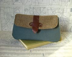 Raliegh  make up bag // clutch by atlaspast on Etsy