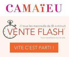 Chaque mercredi, ne manquez pas la vente flash Camaïeu et son lot de vêtements et accessoires à prix mini... | Maxi Bons Plans