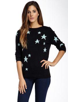 Star Raglan Sleeve Silk Blend Sweater