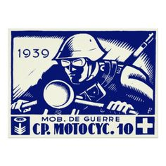 WWII Swiss Motorcycle Company.