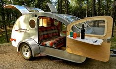 Minnesota teardrop trailer- multi-functional seating/sleeping