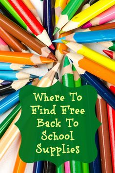 Where To Find Free Back To School Supplies | OurFamilyWorld.com