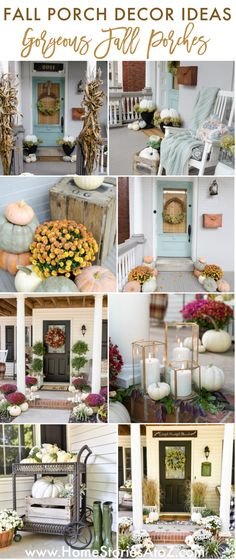 We are officially in the fall season! Let me show you festive ways to decorate your porch using traditional and non-traditional colors. #fallporchdecor #falldecor #fallinspiration #cutefallporch Mums In Pumpkins, Faux Pumpkins, Painted Pumpkins, Fall Table Settings, Thanksgiving Table Settings, Seasonal Decor, Fall Decor, White Mums, Classy Halloween