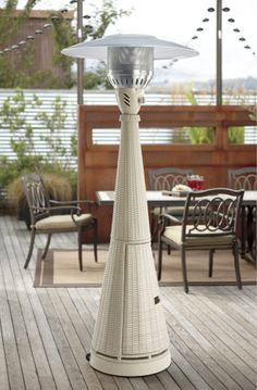 All Weather Wicker Premium Patio Heater In Chalk