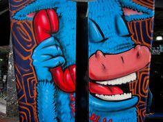 Chacao Street Art   FULL POST: http://caracasshots.blogspot.com/2013/02/funny-phones-4.html #Caracas