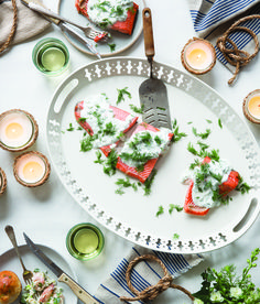 My grandparents brought this easy and delicious salmon recipe home from Sweden. It is so simple (it takes less than 20 minutes to make!), and is a perfect weeknight dinner.