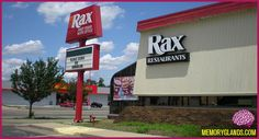 Rax Roast Beef - used to be next to the Wendy's in Crystal Lake, IL (now a Chinese food restaurant). This was right in front only the Handy Andy store (now Jewel) which was across the street from Venture (now Hobby Lobby.).