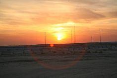 Sunrise at Camp Arifjan, Kuwait