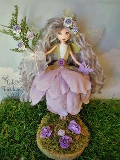 The beautiful Lavinia..hand made by Lula Tuesdays Fairy Fairy doll Fairy garden Handmade fairy