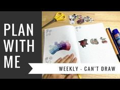 #PlanWithMe Weekly #3 Can't Draw Theme - YouTube