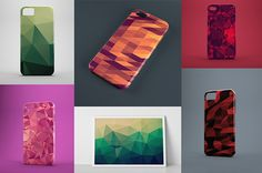 222 Polygon Backgrounds by Peter Olexa, via Behance