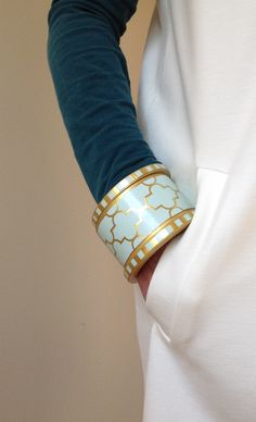 Affordable chic cuff bangle by Chauci Charvet