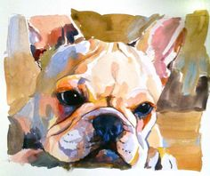 French bulldog portrait custom by JessicaGraca on Etsy, $209.00