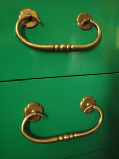 European Paint Finishes: Hollywood Regency Emerald Green Chest~