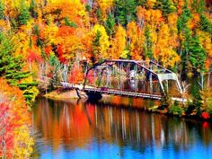 Old 510 Bridge in Negaunee Township - Upper Peninsula! My how I love autumn.....  (photo courtesy of Once a Yooper, Always a Yooper)