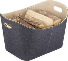 Keep your firewood tidy and sorted with this stylish hessian and felt log basket. Hessian lined for added strength and longevity. Grey felt lined exterior. Ideal for multiple storage applications. Jute, Sand Fire Pits, Wood Burner Fireplace, Outdoor Heaters, Starters, Firewood, Basket, Handmade, Fireplaces
