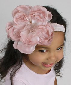 Take+a+look+at+the+Blush+&+Ivory+Floral+Headband+on+#zulily+today!
