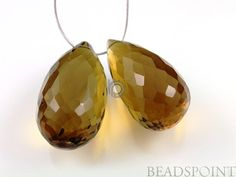 Natural ''NO TREATMENT'' Smoky Topaz Micro Faceted by Beadspoint, $21.95