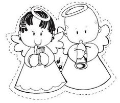 Use free angel applique patterns to sew an angel to your little ones bib or stitch an angel to a shirt. Create a quilted wall hanging with an angel in a country style. Christmas Wood, Christmas Crafts, Christmas Ideas, Coloring Pages For Kids, Coloring Books, Kids Church, Applique Patterns, Digi Stamps, Baby Quilts
