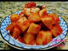 Korean Cubed radish kimchi (Korean Side Dish) 깍두기, Vegan & Gluten Free R...