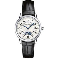 Rendez-Vous Silver Dial Black Leather Ladies Watch