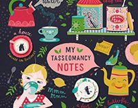 Tasseomancy notebook design for Make art that sells Bootcamp 2018 - Tjarda Borsboom 2018