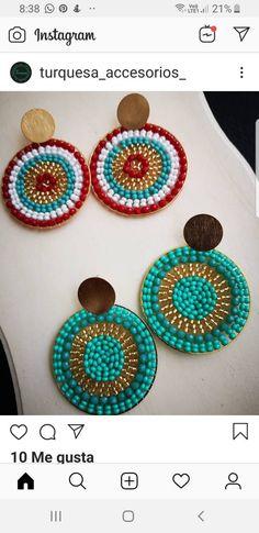 Beaded Earrings, Earrings Handmade, Handmade Jewelry, Mandala Jewelry, Craft Accessories, Lampworking, Brick Stitch, Wire Wrapped Jewelry, Jewelery