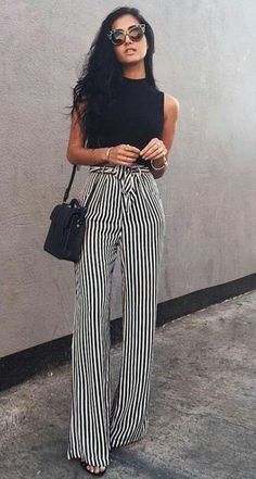 casual style perfection: top   bag   pants