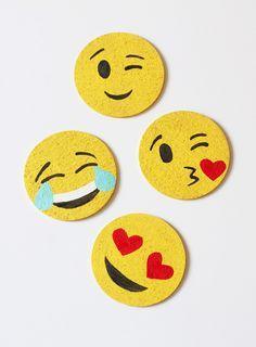 DIY: emoji coasters
