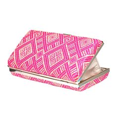Zapals Designer Box Clutch Rhombus Pattern Woven Evening Handbag-Deep Pink. ZAPALS designer box clutch. Rhombus pattern woven design. Trendy, elegant, yet a little ethnic style. Detachable shoulder chain. Chic clasp closure. Cross-body bag/ box clutch. Perfect for both special and casual occasions! Such as party, wedding.
