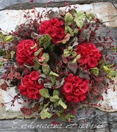 GERANIUM WREATH - ECHINACEA FARMS