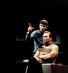 Spock and Kirk.  A moment captured, frozen in time.