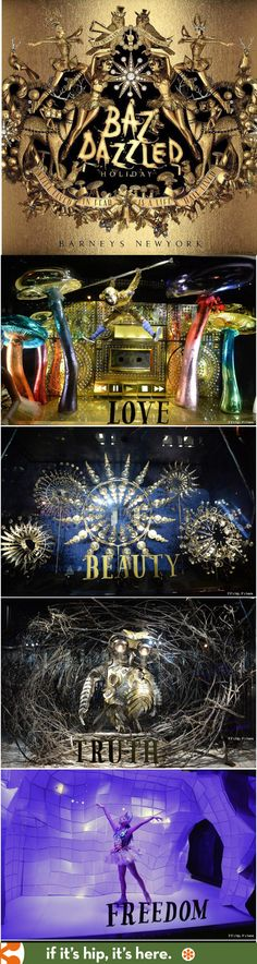 Barneys New York 2014 Holiday Windows by Baz Luhrmann and wife Catherine Martin. Watch the windows move at the link! http://www.ifitshipitshere.com/baz-dazzled-baz-lurhrmann-barneys-holiday-windows-products-hoopla/