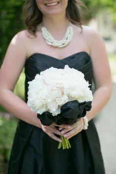 all white bouquet classic black cream washington dc wedding Kristen Gardner Photography 275x412 Classic Black and Cream Washington DC Wedding Ceremony: Stephanie + Chase
