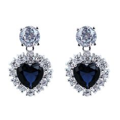 Find More Drop Earrings Information about Free Shipping Montana Blue Cubic Zirconia Heart Shape Drop Women Earrings Lead Free Crystal Earrings Love Anniversary Gifts,High Quality Drop Earrings from ASM Fashion Jewelry on Aliexpress.com